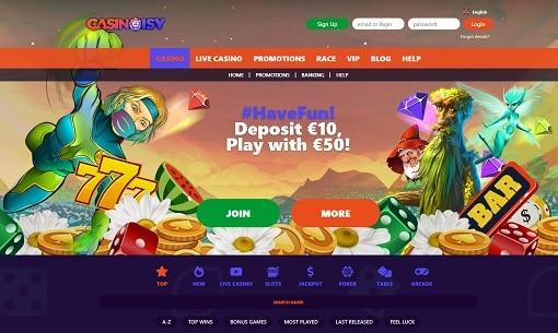 casinoisy bonus code page