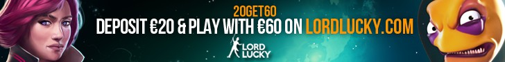lordlucky casino deposit 20 play with 60