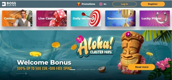 Boss casino bonus code