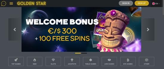 Golden Star casino bonus