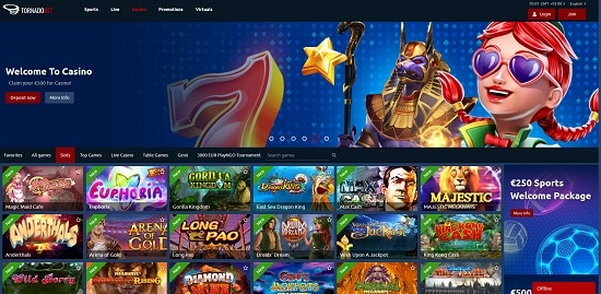 Tornadobet Casino Bonus Code