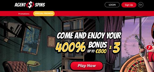 AgentSpins Casino Bonus Code Page