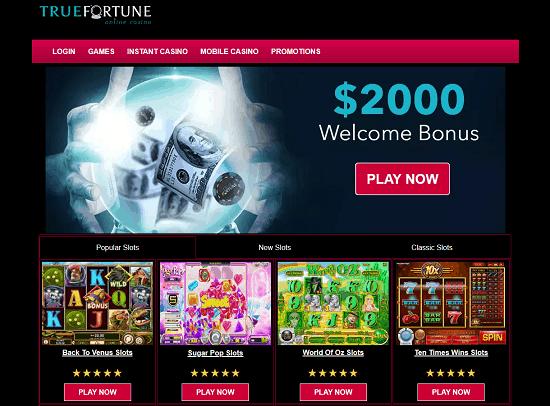 True Fortune Casino Home Page