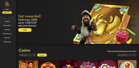 Loki Casino Bonus Page