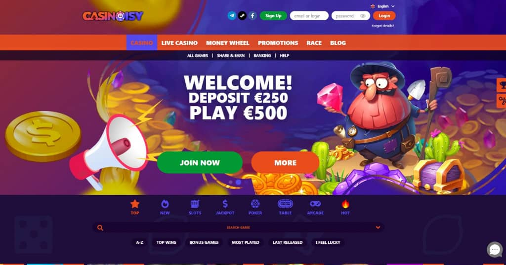 casinoisy review homepage