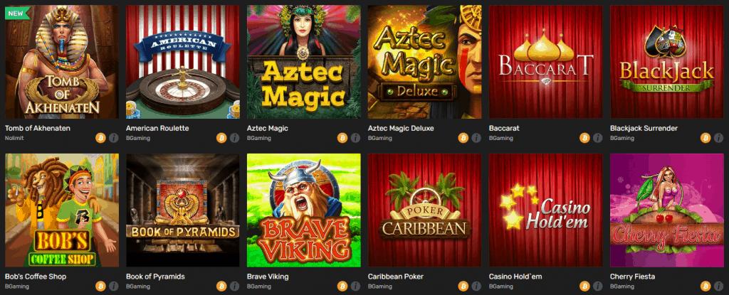 Winz Casino Games